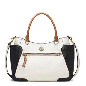 Tory Burch Frances Color Block Satchel Bag
